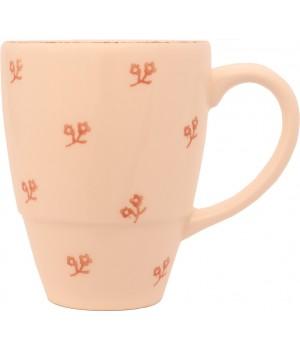 F466900328D0492 кружка Matceramica, Милые шестнадцать, ваниль, орнамент - розовые цветы