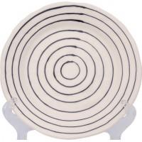F443400328C0062 тарелка десертная Matceramica, Капля, орнамент - полоска синяя