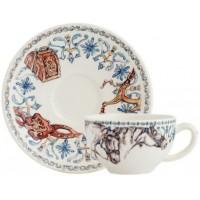 17892PTH01 Чашка и блюдце Gien (для чая), Лошади солнца, 160 мл., 15,2 см.