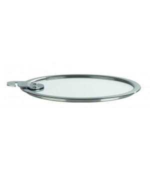 K20SA Крышка CRISTEL, Стрейт-фикс, из стекла, жаропрочная, 20 см., съемная ручка