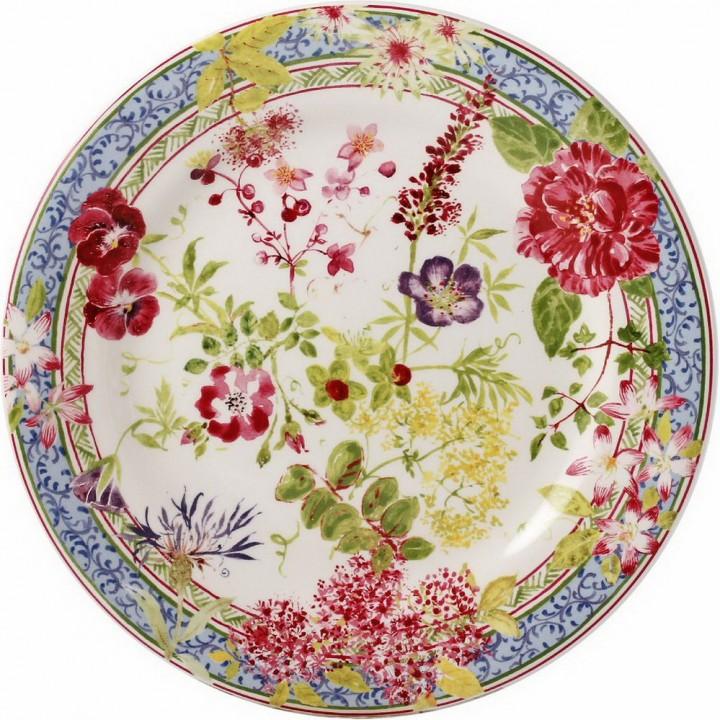 1643B6AB50 Тарелка десертная Gien, Многоцветие, 22 см.