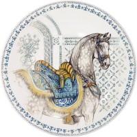 Тарелка десертная Gien, Лошади солнца, 22 см.