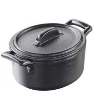 Кухонная посуда REVOL BC0108N-181 Мини кокотница с крышкой Бель Куизин цвет черный металл