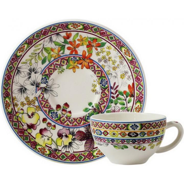17812PTH01 Чашка и блюдце Gien (для чая), Багатель, 160 мл., 15,2 см.