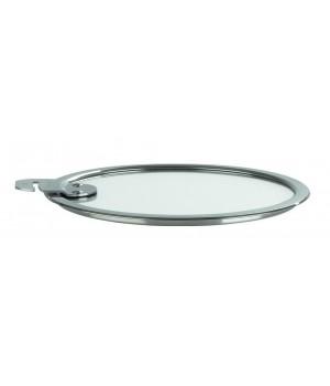 K24SA Крышка CRISTEL, Стрейт-фикс, из стекла, жаропрочная, 24 см., съемная ручка