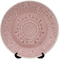 Обеденная тарелка LIFESTYLE, LUGO, розовая, 26 см.