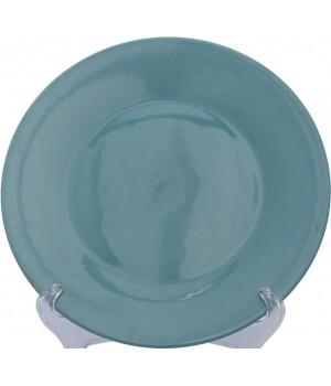 Тарелка обеденная Matceramica, Соловей, бирюзовый
