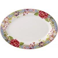 1643COV650 Блюдо овальное Gien, Многоцветие, 37x26 см.