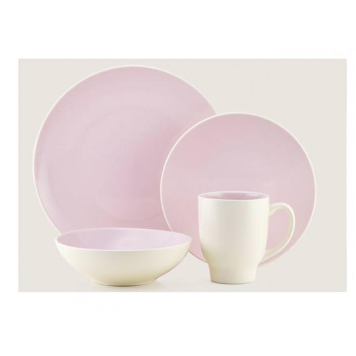 Сервиз Тhomson Pottery, Ови, (16 пред), бледно-розов