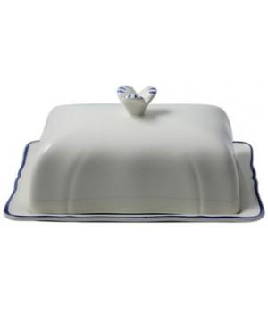 Масленка Gien, Классика, голубая полоска, 17,8x13,5 см.